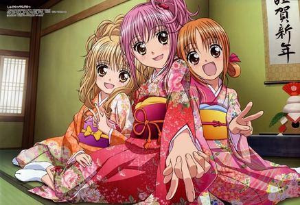 Amu, Rima and Yaya wearing a 키모노, 기모노 :D