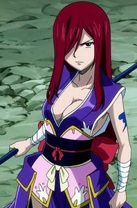 Erza Scarlet (Fairy Tail) in kimono.