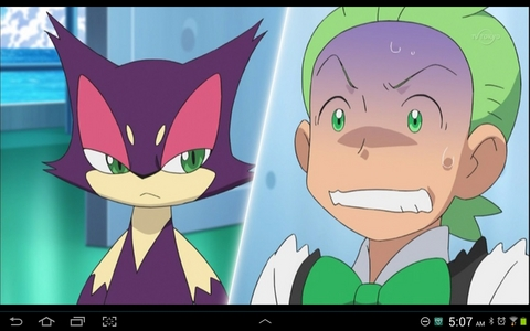 Sure. Cilan from Pokémon. Again. With ailurophobia.