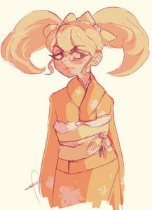 The Super High School Level Traditional Dancer always wears a kimono~