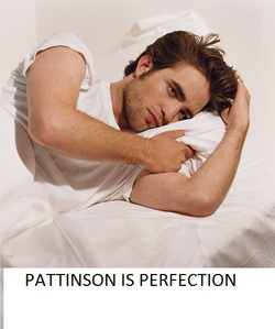 Pattinson is pure perfection<3