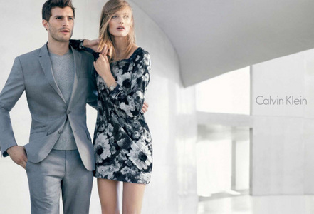 Jamie Dornan and a model<3
