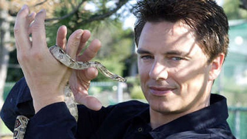 John and a snake!