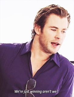 my yummy Aussie Chris in a purple shirt<3