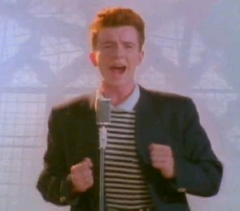 No but my dad used to play football with Rick Astley's Cousin