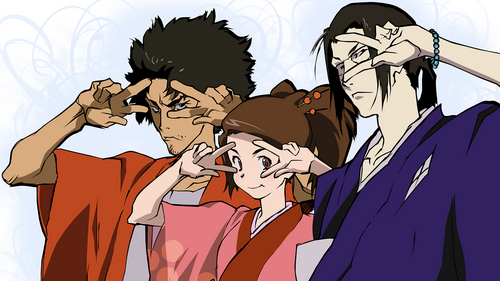 I found Samurai Champloo funny and exciting. It has some intense action scenes and is a pretty crude anime sometimes but it is also hilarious.