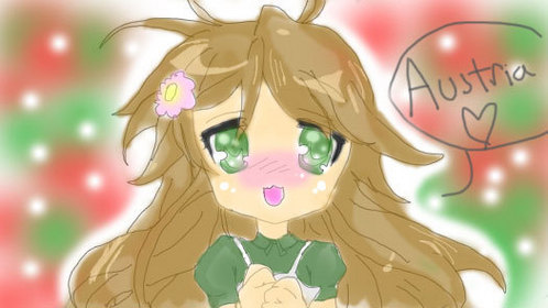 Hungary drawn in the art style~