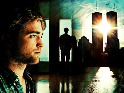 my handsome Robert in a scene from Remember Me with light shining on his heavenly face<3