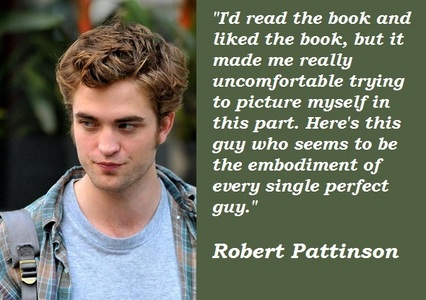 my gorgeous Robert talking about his character from the Twilight Saga,Edward Cullen<3