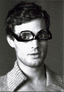 my handsome Irish hottie wearing see through glasses upside down...LOL<3