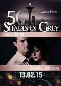 Jamie and Dakota on a 粉丝 made poster for Fifty Shades of Grey<3