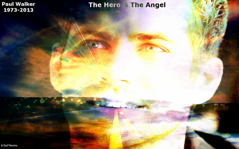 Paul Walker,the hero and the angel,when he was here on Earth and now one in heaven<3