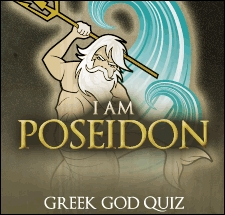 I am Poseidon Poseidon is the Greek god of the sea. He is also known for being moody and short-tempered. Like Poseidon and the ocean, your personality can go from being cool and serene to angry and volatile