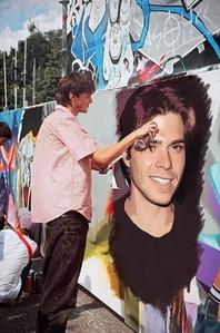 Matthew with graffiti :)
