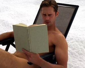 Here is Alexander being hot and smart. The book is actually in Swedish where Alex is from. (Sweden).