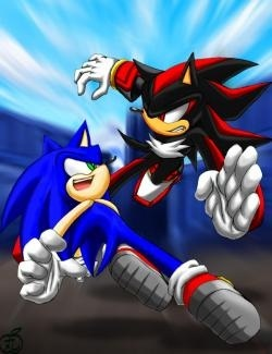 """No way. I whack him into siguiente week's calendar and shove a 11 size boot up his @ss. o better yet.....FALCON PUNCH! (Works every time and a immediate K.O.) but, I like Shadow a lot, so I'd say maybe. Sonic I like a lot too, but.....he's a little obnoxious. He always says, """"You're too slow!"""" In the video games and I want to whack his mouth and rip it off. So yeah, but Shadow's a bit too demanding/evil.....hmmmm....yeah so it's gonna be a maybe. :)"""