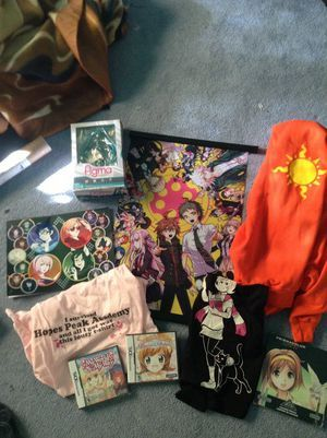 Sorry that it isn't all anime, I took the picture earlier and just made it of all of the fandom merch I got so far today (since family is coming over and I may be getting a wig and 更多 fandom merch!) I'll update this later once I get everything ^o^ UPDATE: I just recieved a Chihiro Fujisaki wig!