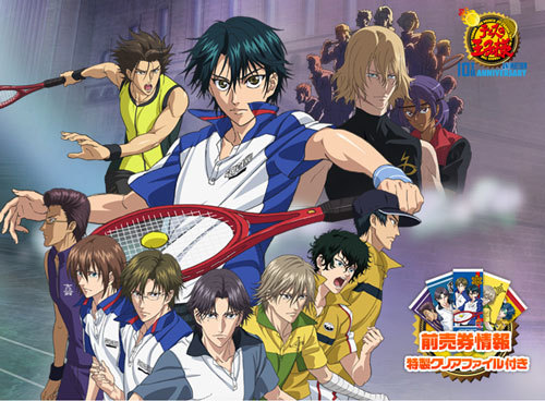 "The movie's 제목 is The Prince of Tennis: Eikoku-shiki Teikyū-jō Kessen!....It's about Seigaku and a familiar selection of Japan's other 상단, 맨 위로 junior 테니스 teams gather in Wimbledon, London, for a 테니스 tournament. During 테니스 practice, the Japanese players are suddenly attacked 의해 a violent ""street tennis"" group that calls themselves ""Clack"". An encounter with a former Clack member named Xiu leads Ryoma and his 프렌즈 into a battle with Clack to confront its leader, Keith, and discover his reasons for having such a violent approach to tennis. For 더 많이 information, just go to this link: http://princeoftennis.wikia.com/wiki/The_Prince_of_Tennis:_Eikoku-shiki_Teiky%C5%AB-j%C5%8D_Kessen!"