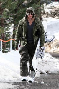 Kellan with snow behind him<3