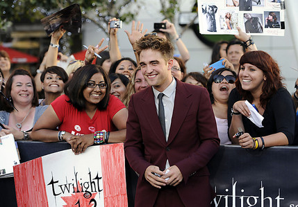 my gorgeous smiley babe with Фаны at Eclipse premiere<3