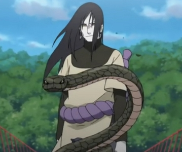 I hate to seem like that idiot that puts 火影忍者 for everything, but I can't think of anything else so................... Orochimaru!