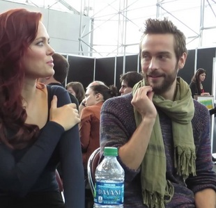 Tom Mison with one of his Sleepy Hollow co-stars <3