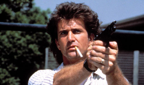 A young Mel Gibson in Lethal Weapon
