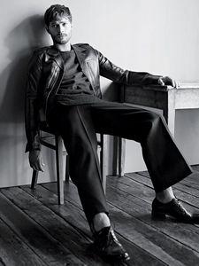 my yummy Irish hottie,Jamie Dornan in a chair<3