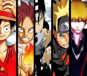 ~Top 5 Favorites~ 1. Fairy Tail 2. Bleach 3. naruto Shippuden 4. One Piece 5. Soul Eater ~5 Least Favorites~ 1. Yu-Gi-Oh 2. Lucky bintang 3. Sword Art Online 4. Cowboy Bebop 5. Death Note