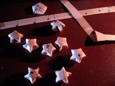My promise is to practice making lucky paper stars and see if I can make 100 of them, also to practice drawing