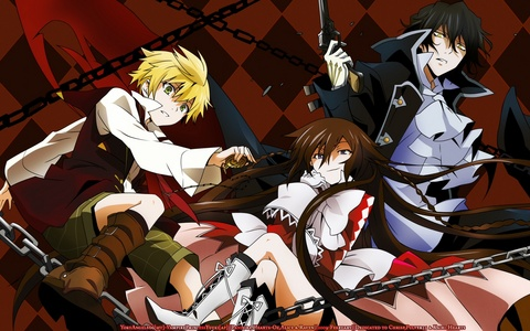 Looking at what Du like, I'd recommend: Pandora hearts (picture) Soul eater Code geass Black butler