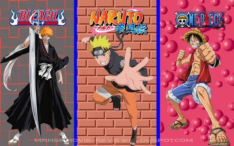Bleach, Naruto + Naruto shippuden, One Piece best 3 Anime series ever............. u will luv these 3 animes for sure.........after all these 3 are the 3 kings in whole Anime series......he he ehe h