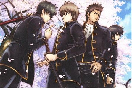 Shinsengumi (Gintama) Hijikata, Okita, Kondo from shinsegumi police force.........he eh eh e eheh