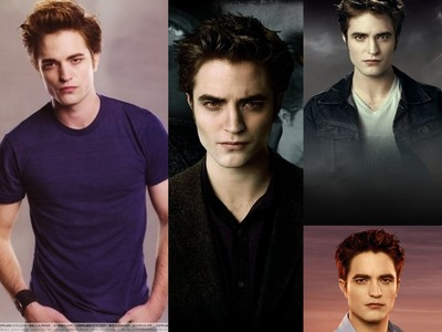 EDWARD!!! His skin may be ice cold,but he is a volcanic hot vampire.He is way hotter than 狼 Jacob!!!