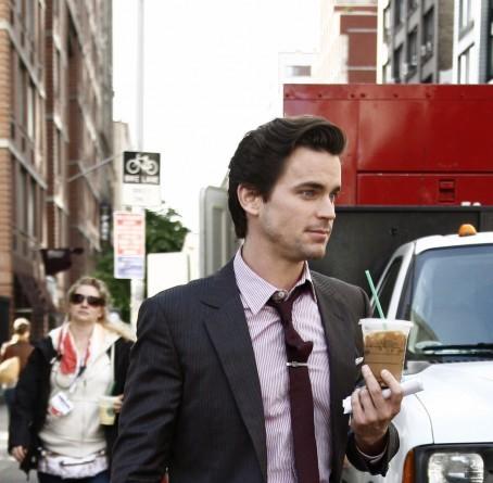 Matt Bomer holding a cup <3