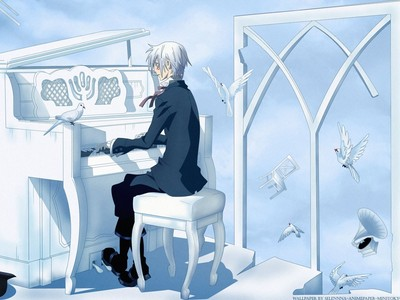 Allen Walker (D.Grayman) Allen playing piano.......that sng sure is soo beautiful..he he he h
