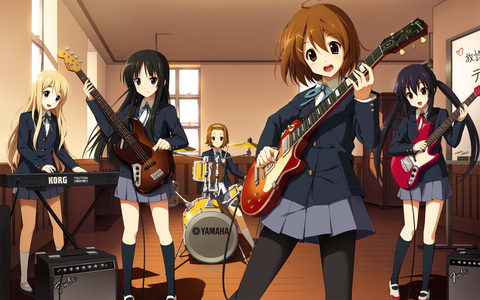 The K-on girls