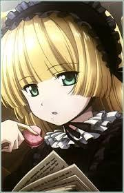 Victorique from Gosick, probably? Though I have blue eyes and a different body type. Just about everything else is the same though, including sense of fashion. [i]Though luckily I wear actual Lolita and not this アニメ Lolita BS[/i]