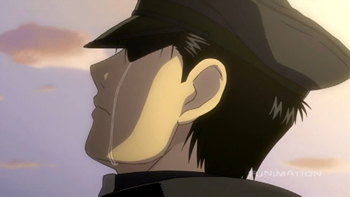 -FMA SPOILER!!- Roy mustang after Hughes dies T-T