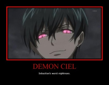 Here's Ciel transformed into a demon