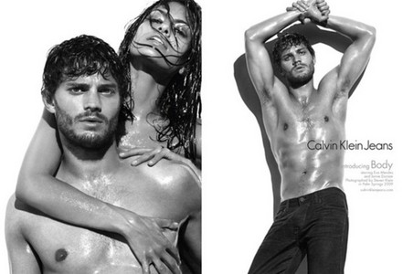 Jamie in 2 different pics,one of him and Eva Mendes and the other سے طرف کی himself<3