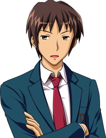 Kyon from The Melancholy of Haruhi Suzumiya. Huh... Someone gepostet Haruhi, so I'm surprised no one gepostet him yet... Oh well!