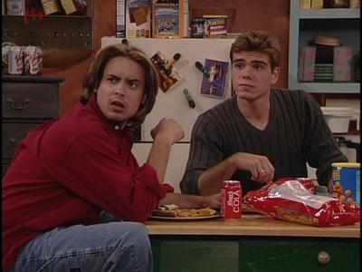 Matthew and Will Friedle snacking on stuff :)