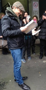 John at the stage door when I saw him<3