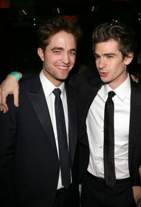 my gorgeous Robert with Andrew Garfield<3