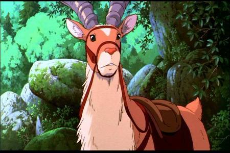I pag-ibig the red elk Yakul in Princess Mononoke.He is so beautiful and great to me ^_^ Makes me want to have my own elk