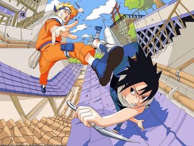 나루토 & Sasuke (Naruto) they are arch enimies.......he he heeh