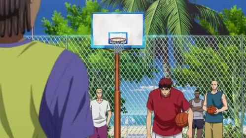 Kagami Taiga (Kuroko no basket) In third grade, Kagami moved to the States and attended school there. and he moved back to Japan to attend hig school...but his real Home is in America his parents are working there.....and his teacher of Basket ball is there.........so for training he went back to his Home in America,..........he he eh eh