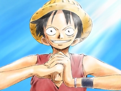 Luffy (One Piece) Luffy Wird angezeigt determination to beat the bad guys all alone........he he he he