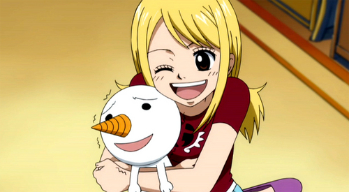 Plue (Fairy Tail) is Lucy's pet